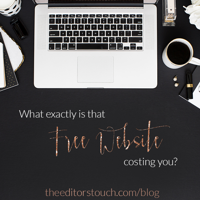 Free Company Websites:  Are They Worth The Cost?  | The Editor's Touch