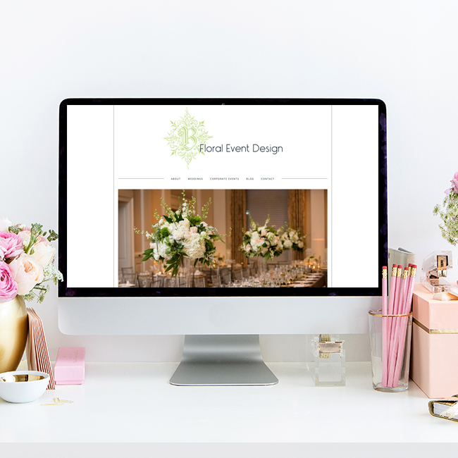 B Floral and Event Design | Website by Heather Sharpe of The Editor's Touch