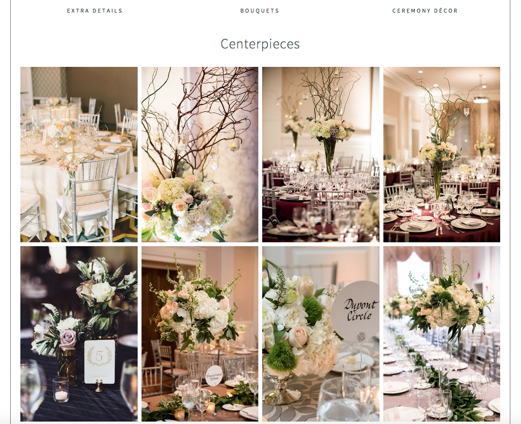 Website Design by Heather Sharpe | The Editor's Touch | B Floral Event Design