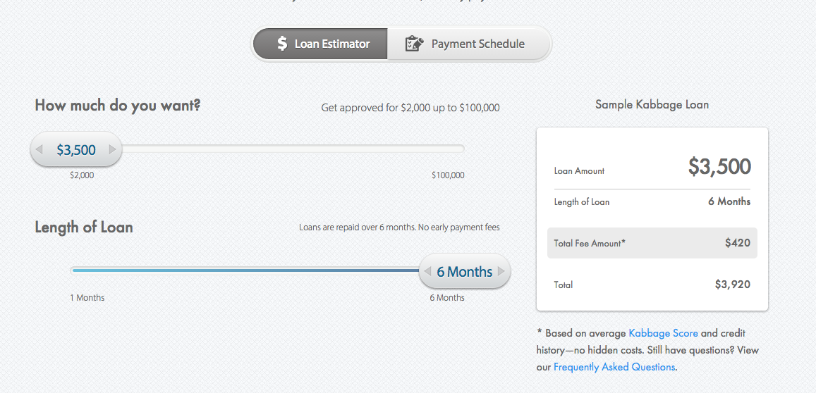Kabbage Small Business Loan of $3,500 and Fees | The Editor's Touch