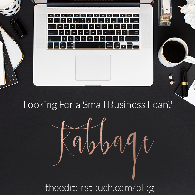 Small Business Loans with Kabbage | The Editor's Touch