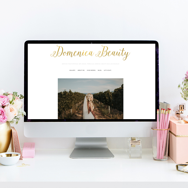 Domenica Beauty Website Design by Heather Sharpe | Squarespace Website Design | The Editor's Touch