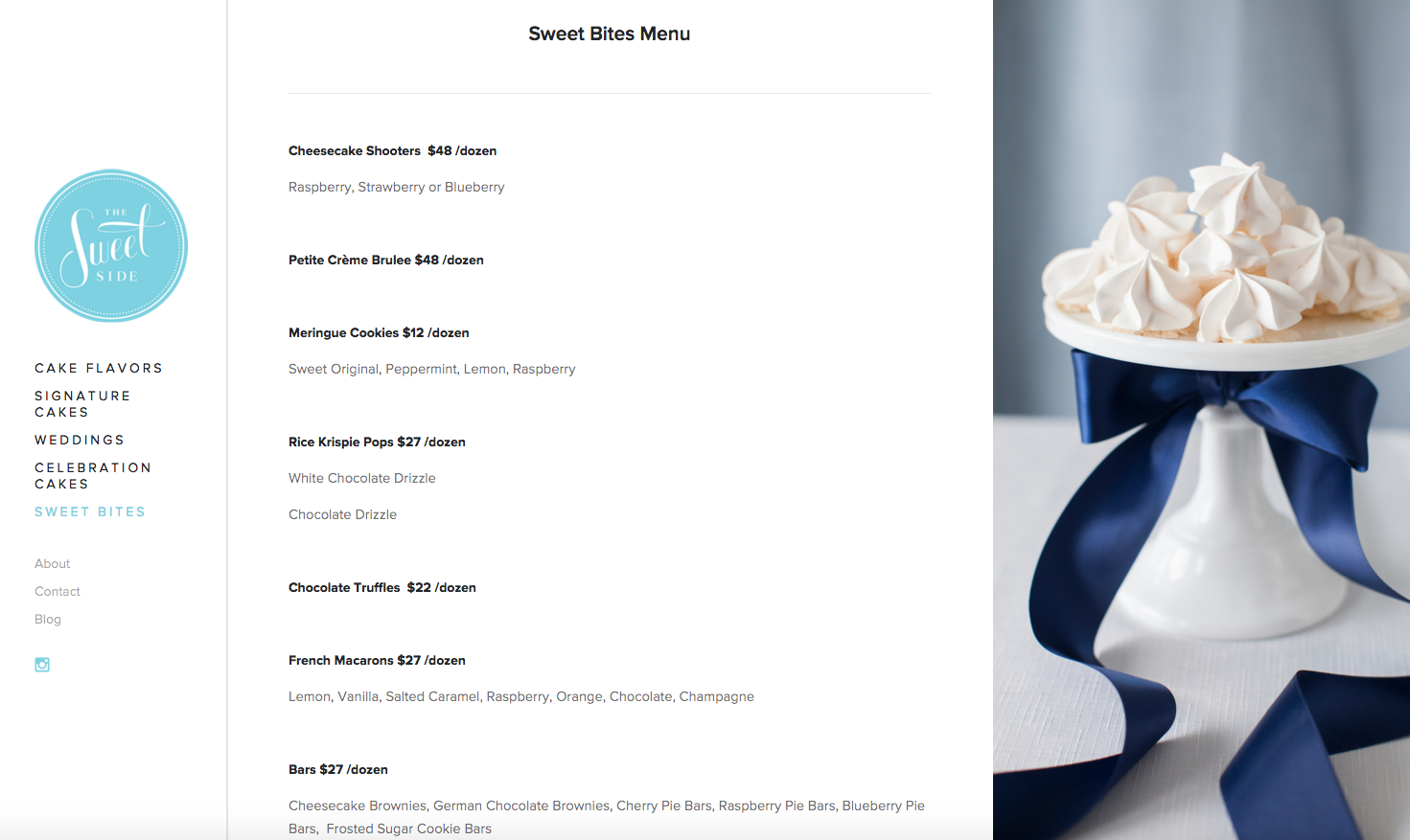 Website Design for Seattle Bakery The SweetSide | Heather Sharpe of The Editor's Touch | Squarespace Website Designer