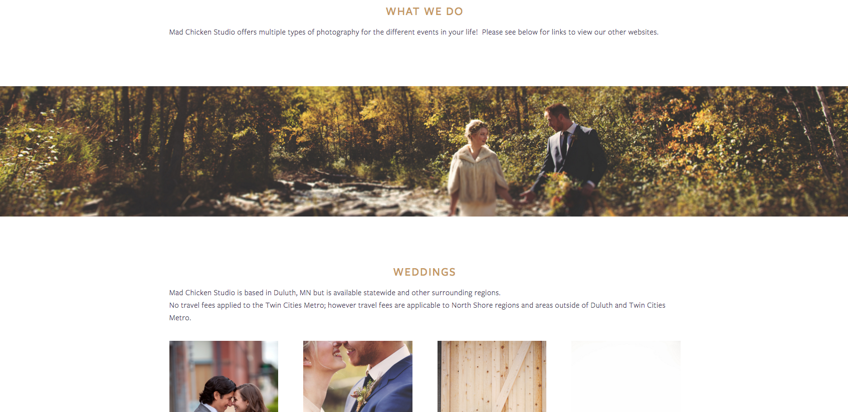 Website Design for Mad Chicken Studio a Duluth Photography Company | Heather Sharpe of The Editor's Touch
