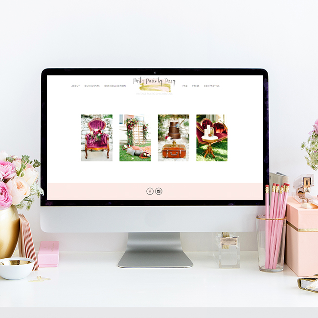 Party Pieces by Perry   Website Design by Heather Sharpe of The Editor's Touch