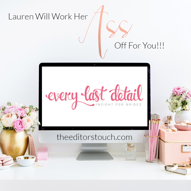 Advertise with Every Last Detail | The Editor's Touch