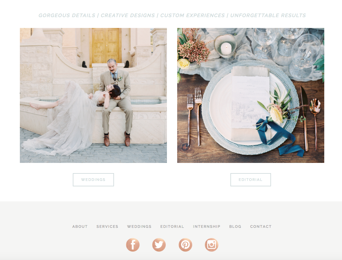 Website Design for Michelle Leo Events | Heather Sharpe of The Editor's Touch