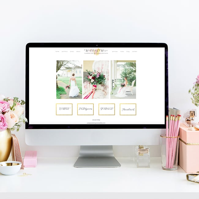 Wedding Wise Seattle | Website Design by Heather Sharpe of The Editor's Touch