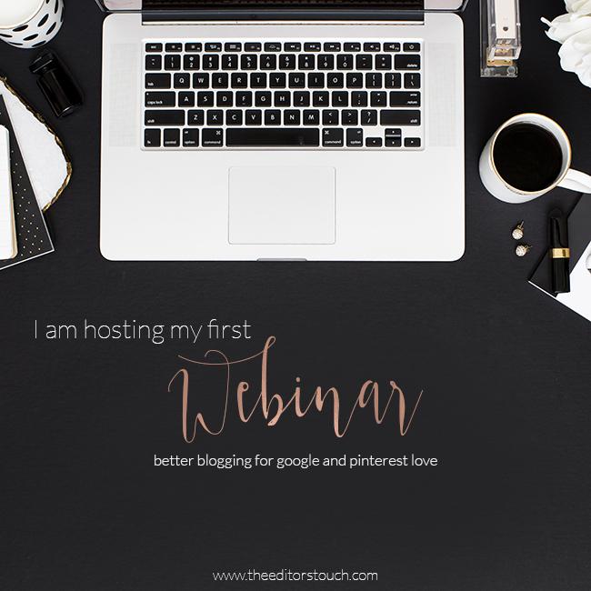 Webinar:  Better Blogging For Google and Pinterest Love