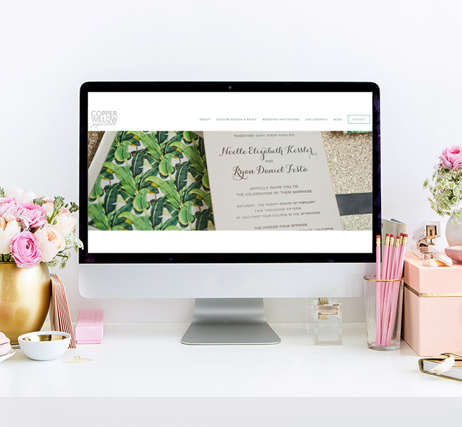 Copper Willow Paper Studio Website Design by Heather Sharpe of The Editor's Touch