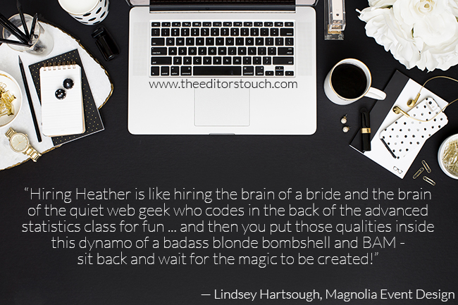 The Editor's Touch Review and Testimonial | Heather Sharpe | Squarespace Website Designer