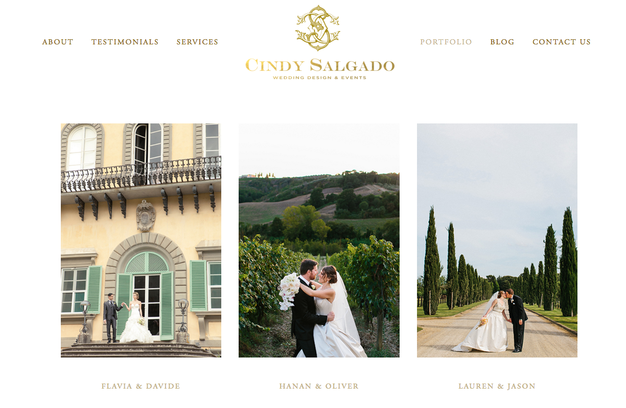Cindy Salgado Events and Design   Website Design by Heather Sharpe of The Editor's Touch