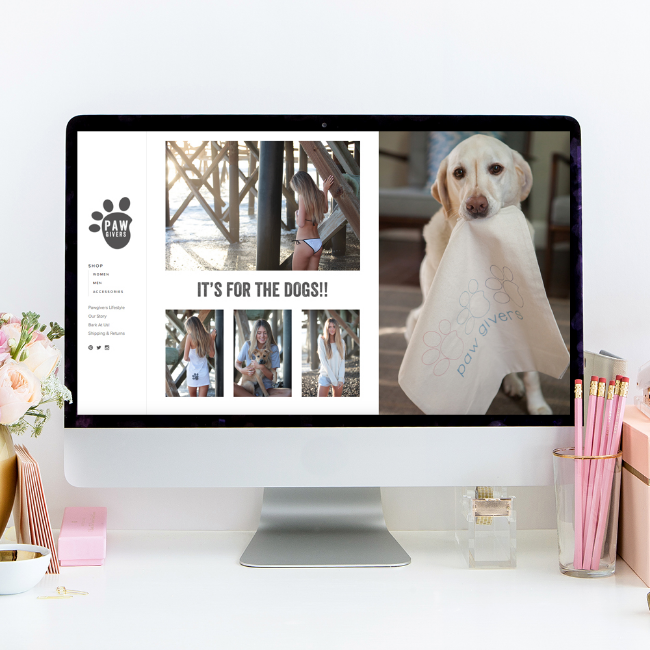 PawGivers | Website Design by Heather Sharpe of The Editor's Touch