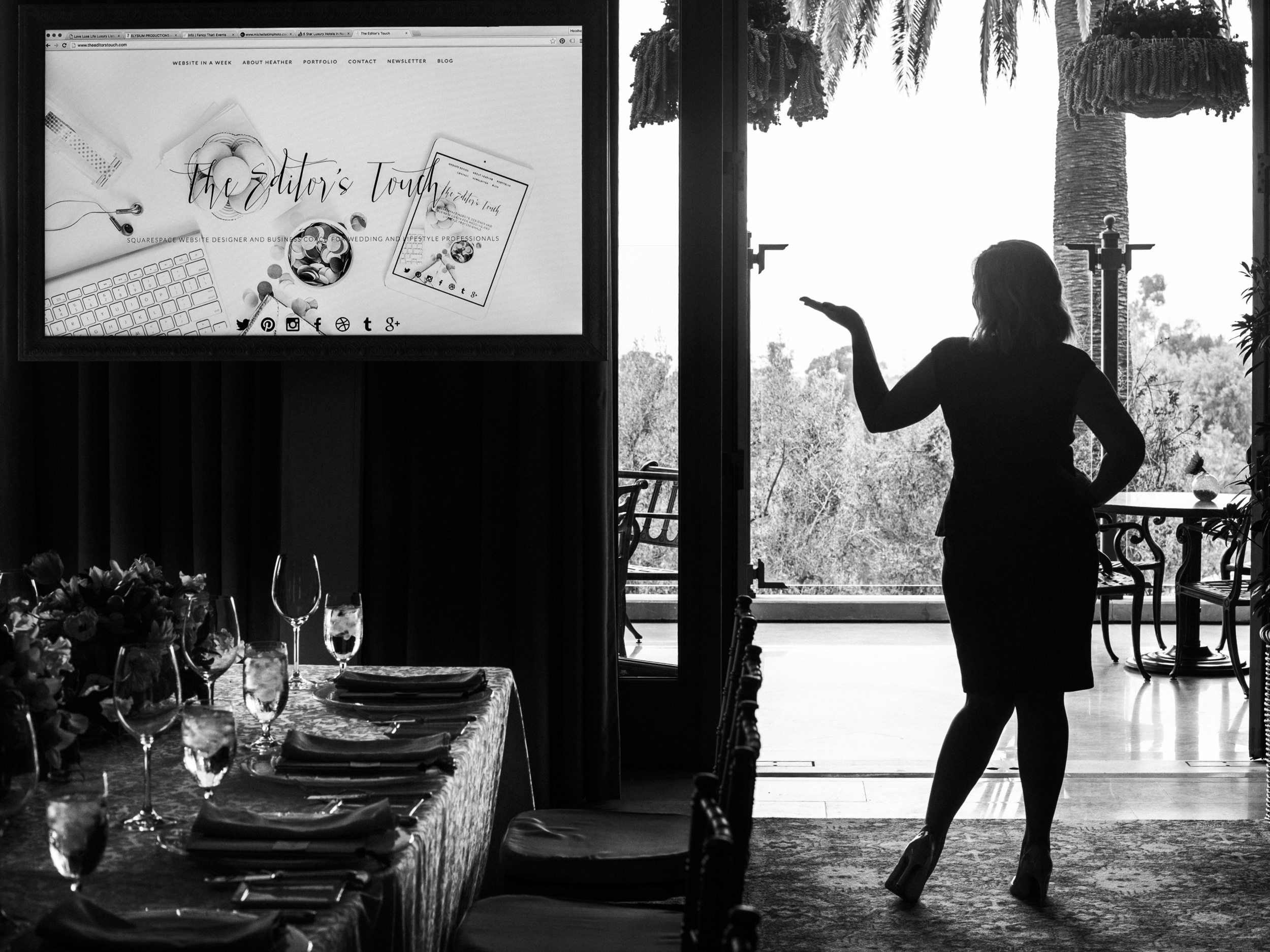 Speaker for Wedding and Creative Professionals | Website Designer Using Squarespace | Alante Photography | Heather Sharpe of The Editor's Touch | Love Luxe Life Luncheon | The Resort at Pelican Hill in Orange County