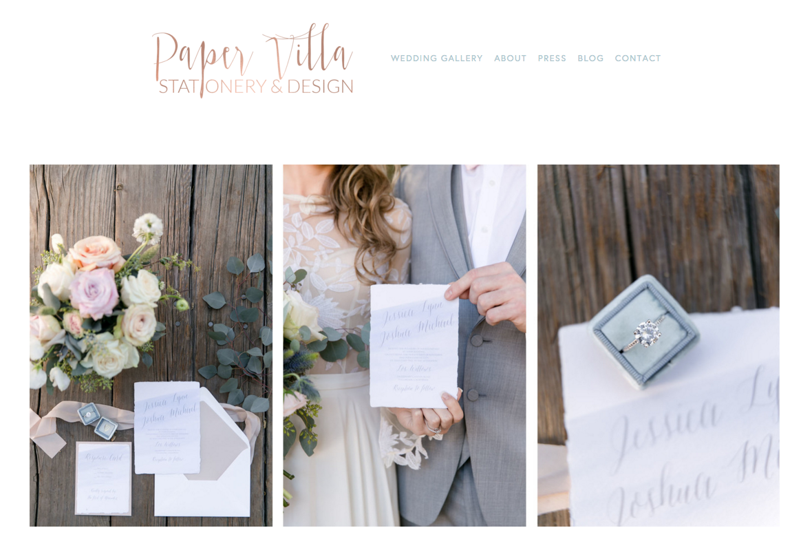 Paper Villa Stationery and Design | Website Designer Heather Sharpe of The Editor's Touch