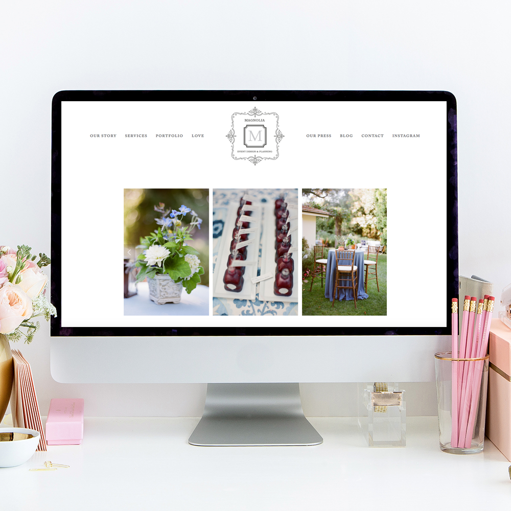 Magnolia Event Design | Website by Heather Sharpe of The Editor's Touch