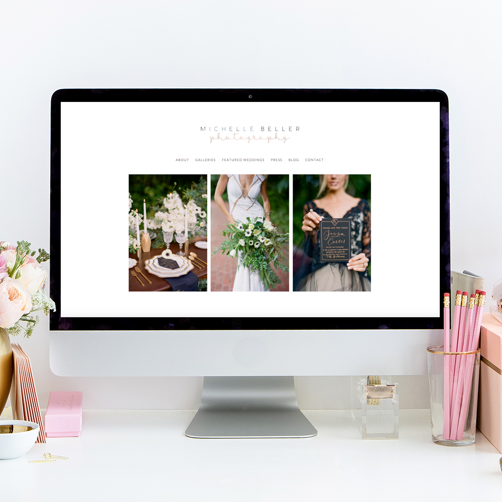 Website Design by Heather Sharpe of The Editor's Touch | Michelle Beller Photography