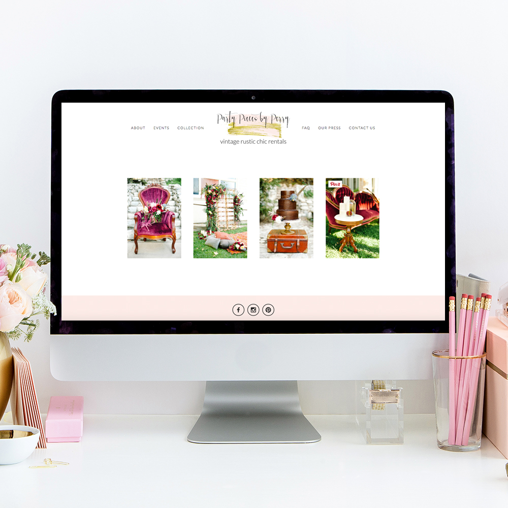 Party Pieces by Perry Website Design | Squarespace Web Designer | The Editor's Touch