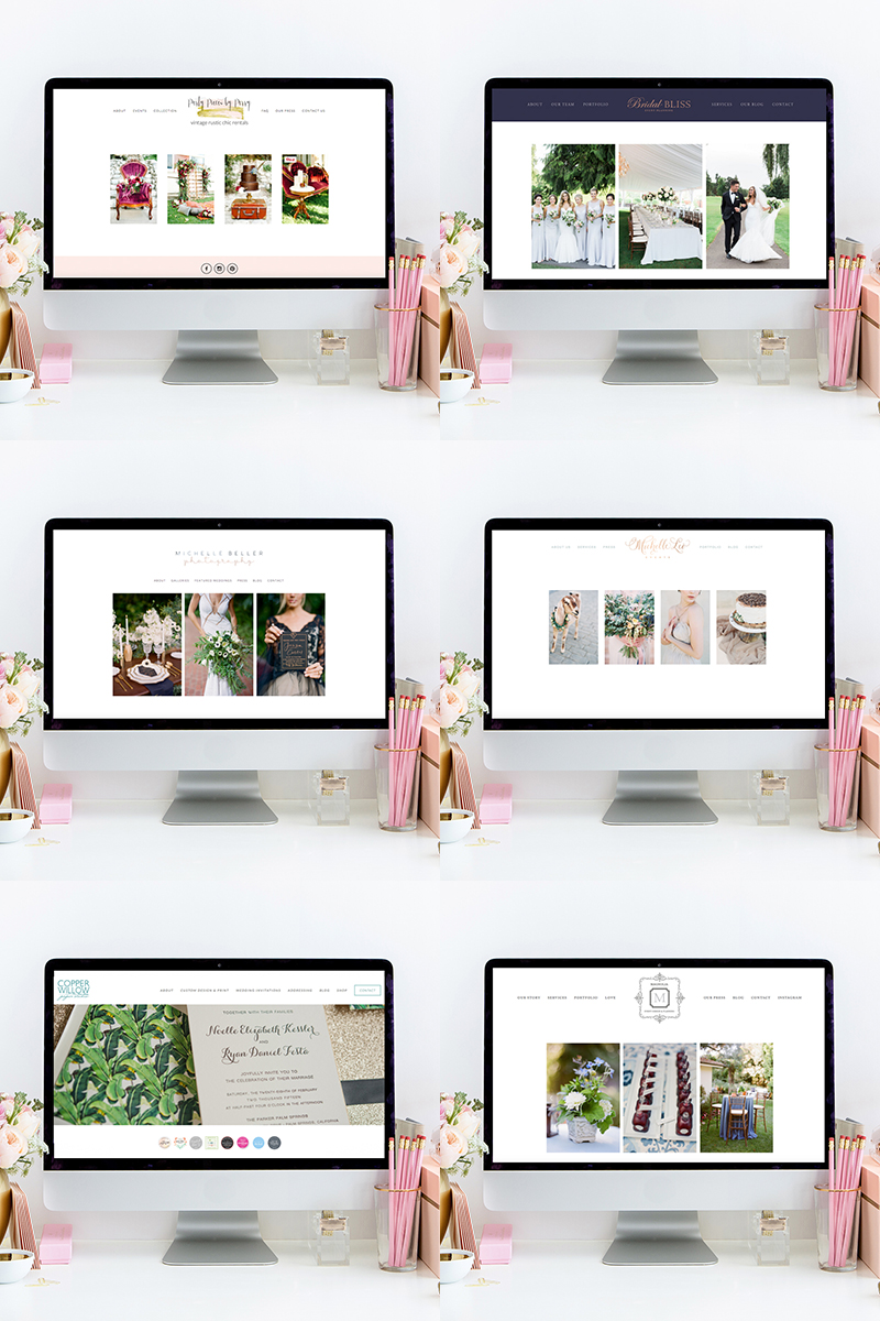 Websites Designed by Heather Sharpe of The Editor's Touch | Squarespace Web Designer for Wedding Professionals and Creatives