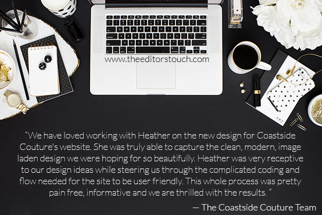 Reviews of The Editor's Touch | Squarespace Website Designer
