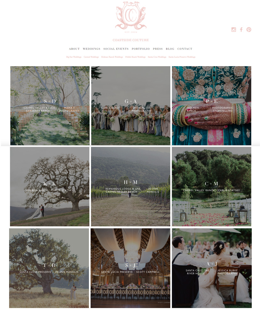 Website Design by Heather Sharpe of The Editor's Touch | Coastside Couture