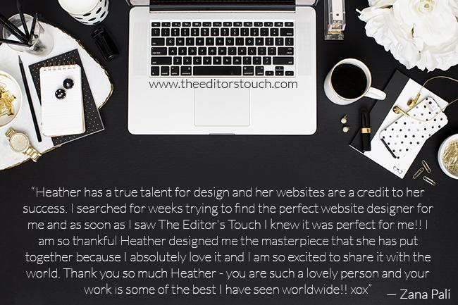 Zana Pali Website Designer   The Editor's Touch