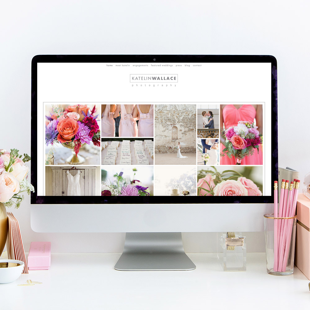 Website Design for Katelin Wallace Photography   The Editor's Touch