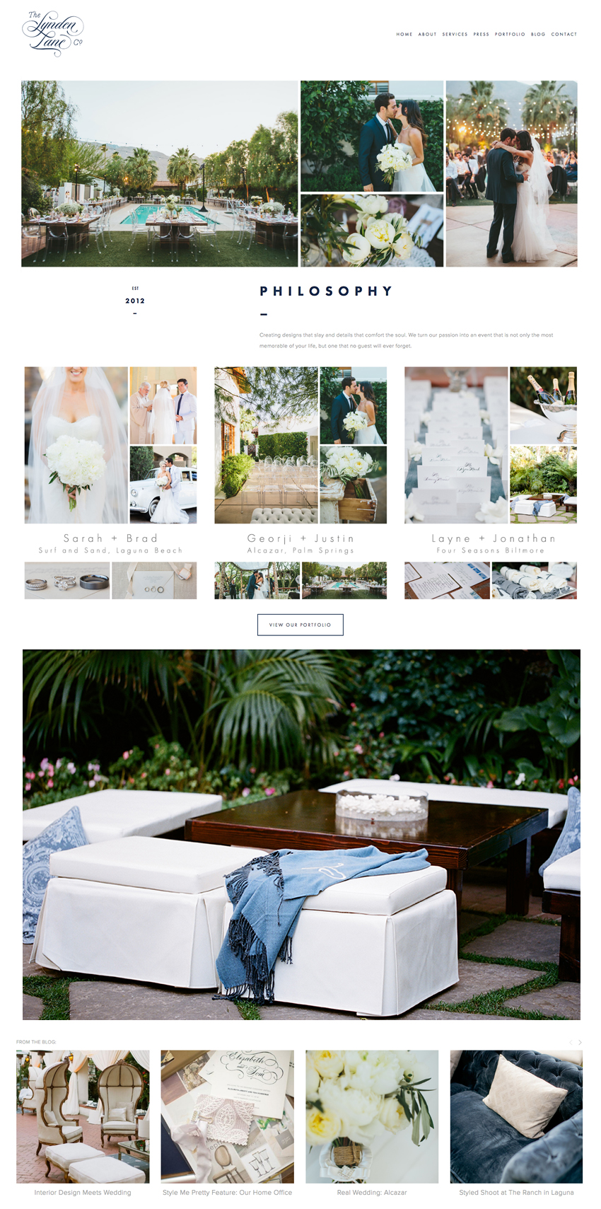 Website Design for The Lynden Lane Company | The Editor's Touch | Squarespace Website Designer