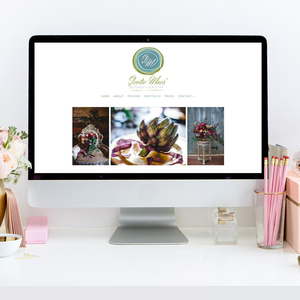 theeditorstouch.com   Website Design by The Editor's Touch   Gertie Mae's Floral Design Studio   Squarespace Website Designer For The Wedding Industry