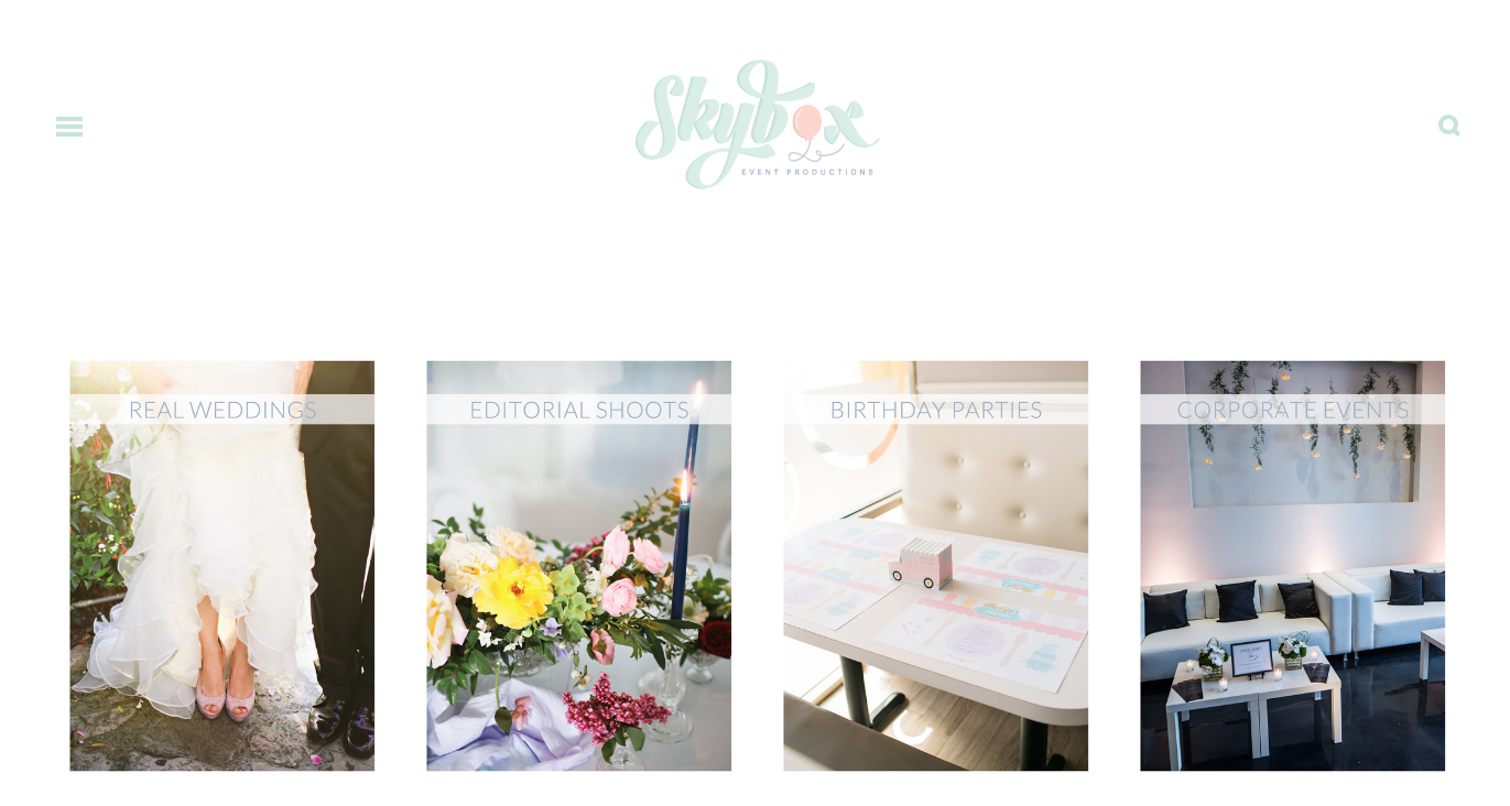 theeditorstouch.com | Skybox Event Productions Website Designer | The Editor's Touch | Squarespace Web Design for Wedding Professionals and Creatives