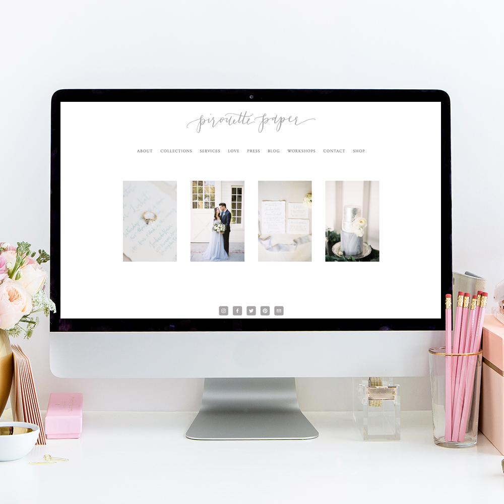 The Editor's Touch Website Design | Pirouette Paper Company