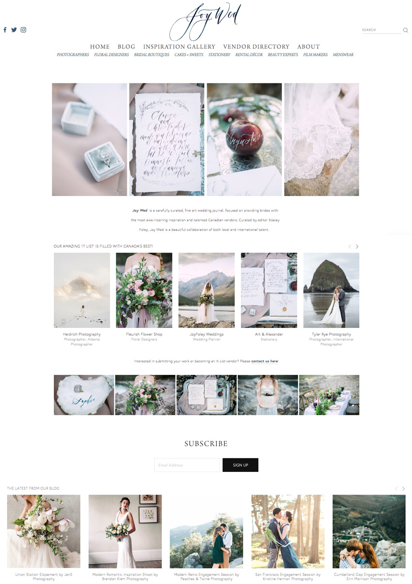 theeditorstouch.com | The Editor's Touch Designs Joy Wed Blog | Website Design For Wedding Professionals