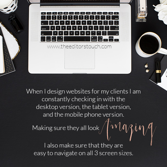 Designing a website that works on Mobile and Desktop | The Editor's Touch | Squarespace Website Designer