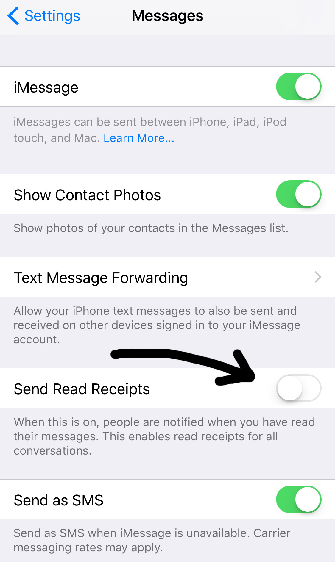 theeditorstouch.com | Removing The 'Read Receipt' Setting On An iPhone | The Editor's Touch