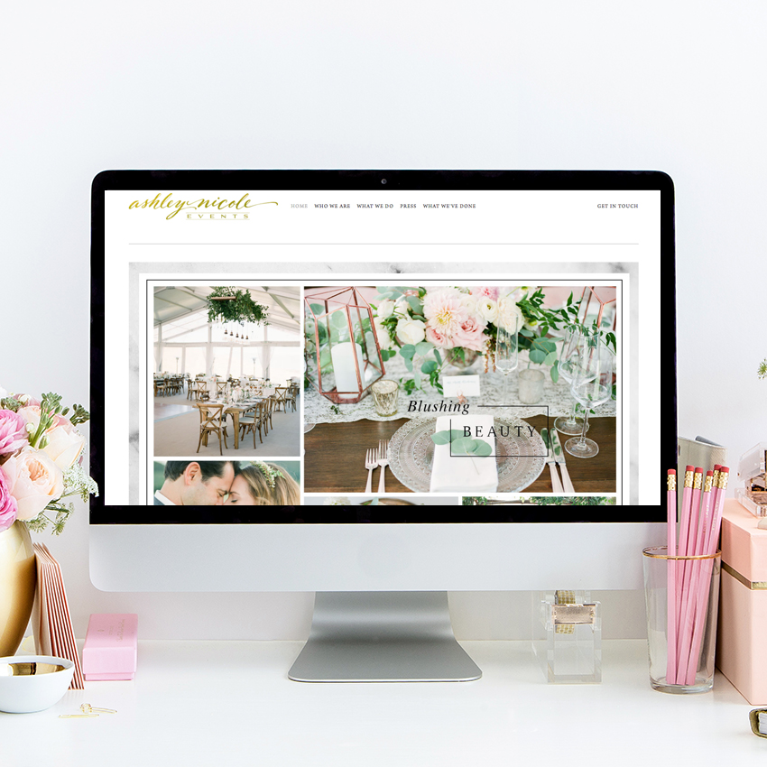 theeditorstouch.com | Website Design For Ashley Nicole Events | The Editor's Touch | Squarespace Designer For Wedding Professionals