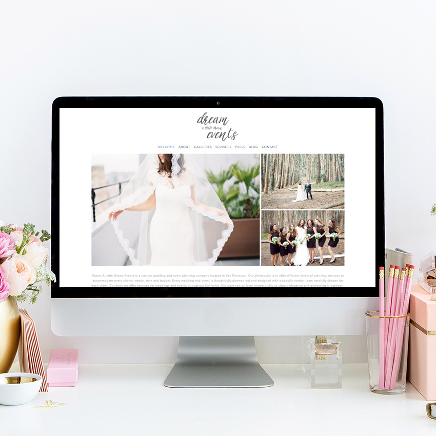 theeditorstouch.com | The Editor's Touch | Squarespace Website Designer For Dream A Little Dream Events | Wedding Industry Expert