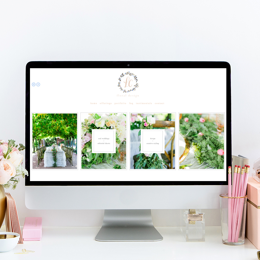 theeditorstouch.com | The Editor's Touch Website Design | Squarespace Website Designer | LC Floral Design