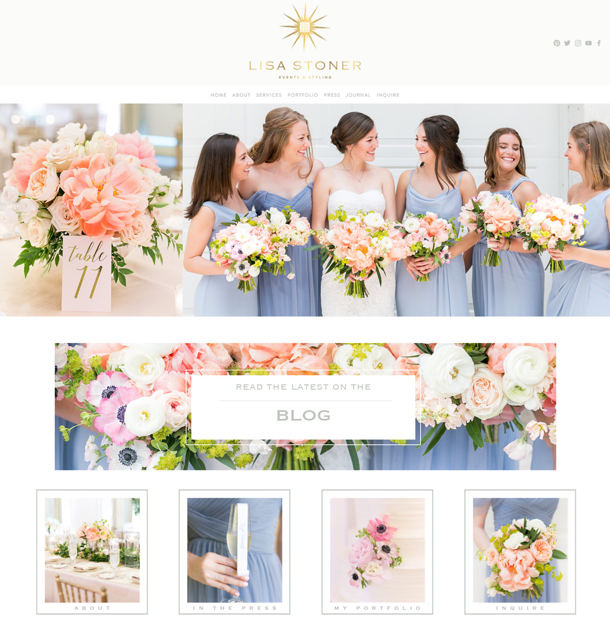 theeditorstouch.com | Lisa Stoner Events Website Designer | The Editor's Touch