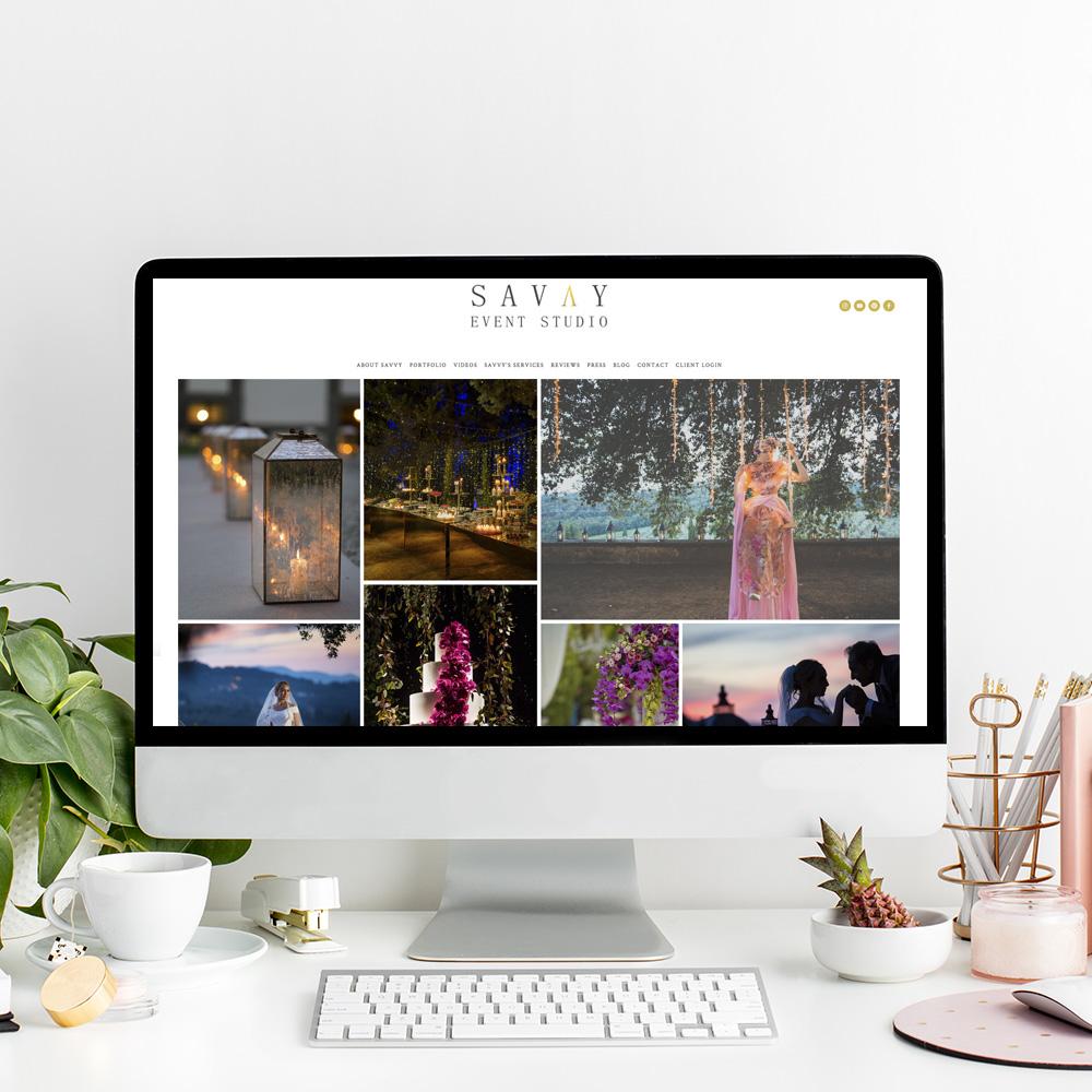 Savvy Event Studio | Website Designer
