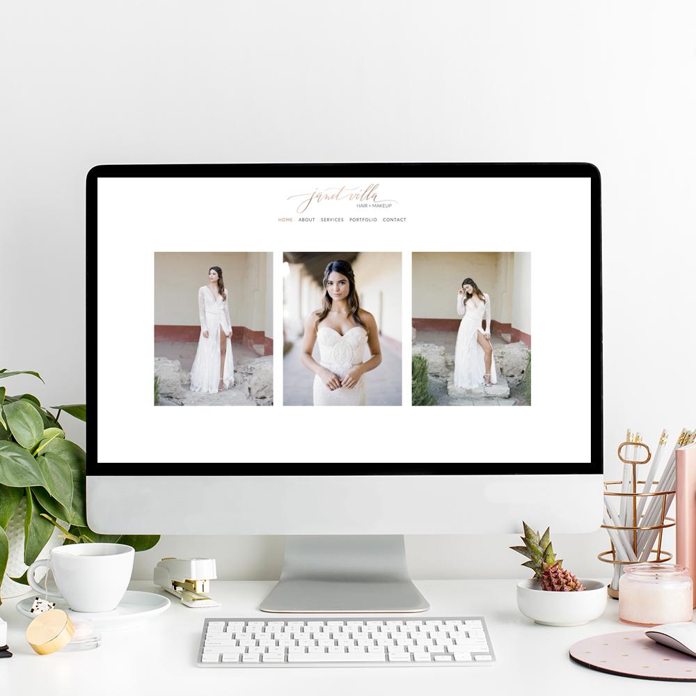 Janet Villa Hair and Makeup | Website Designer