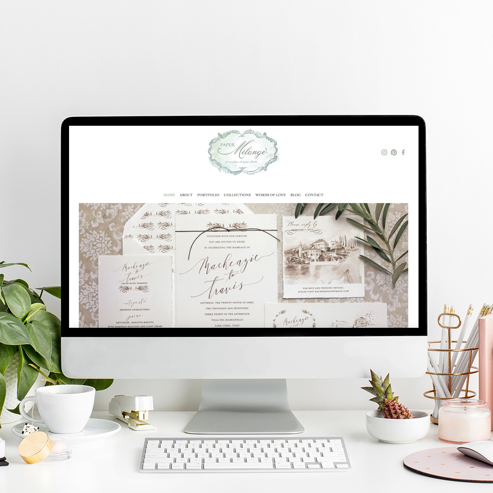 Paper Melange | Squarespace Website Designer The Editor's Touch