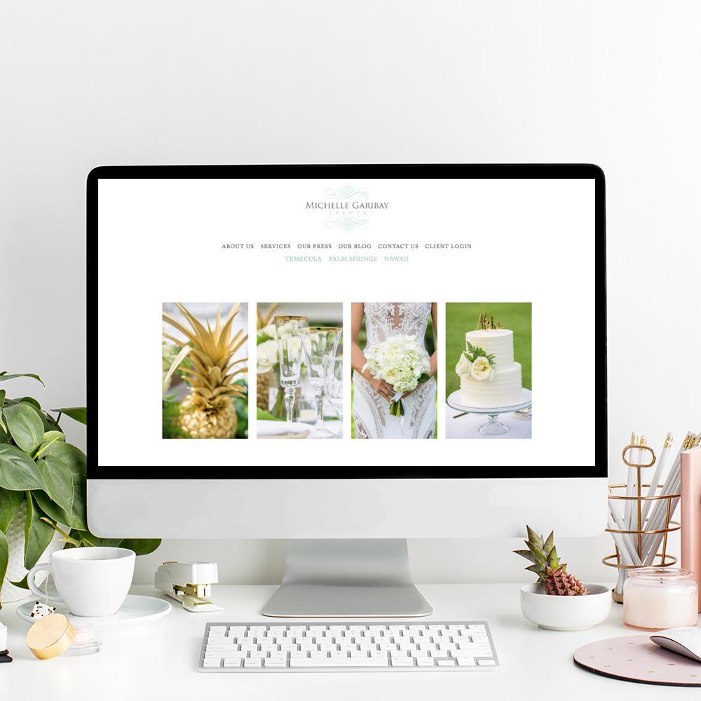 Website Designer for Michelle Garibay Events