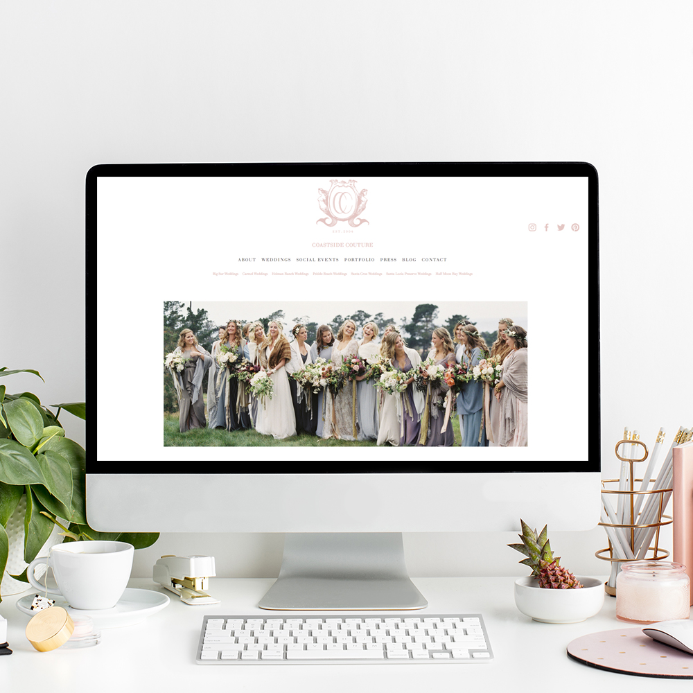 Website Designer for Wedding Professionals | Squarespace Web Design by The Editor's Touch