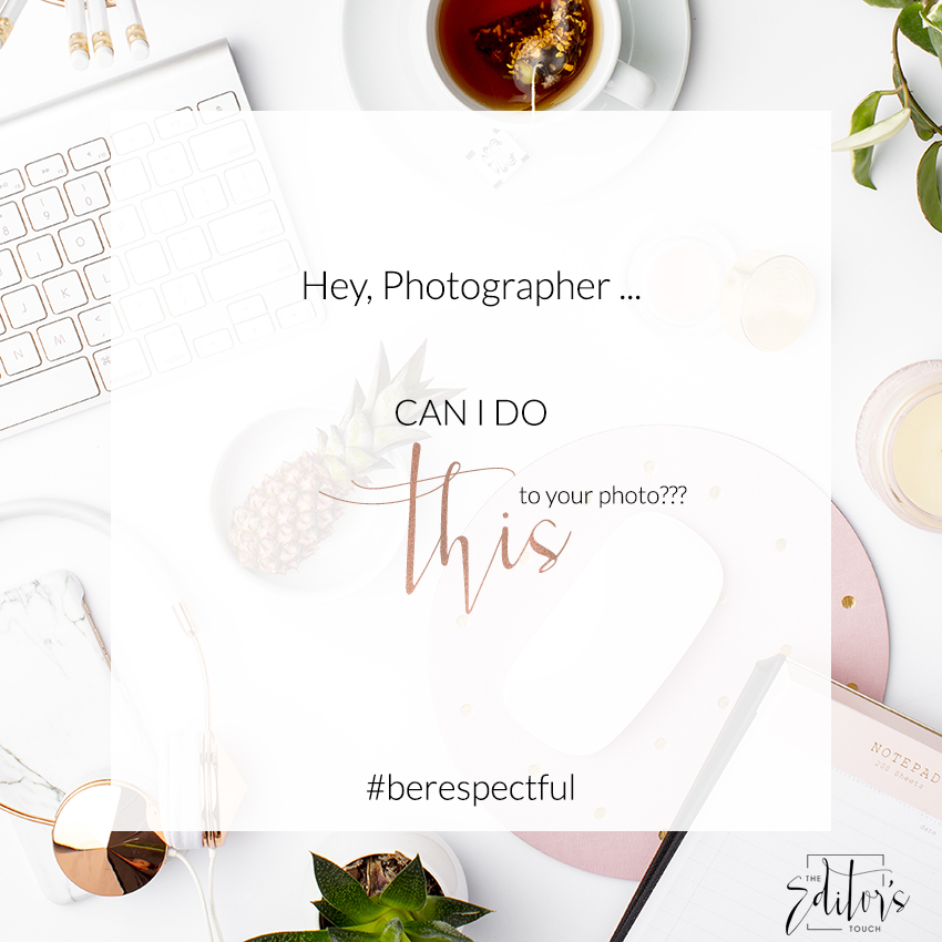 What Not To Do With A Professional Photograph | The Editor's Touch
