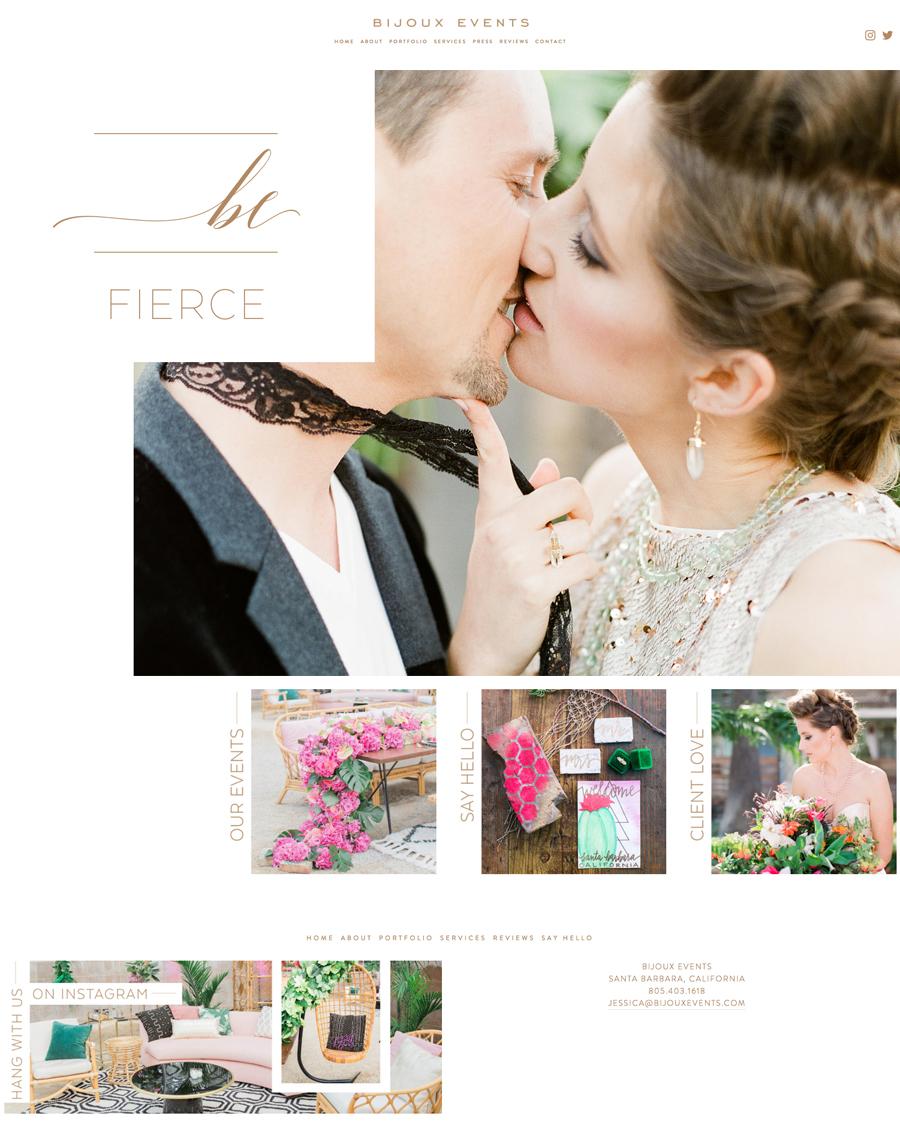 theeditorstouch.com | Bijoux Events | Squarespace Website Designer for Wedding Professionals