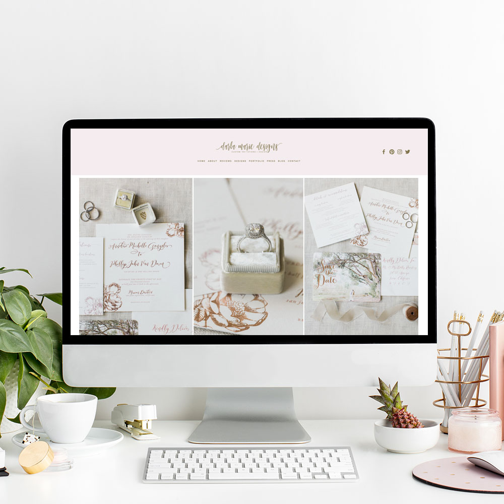 theeditorstouch.com | Website Designer for Wedding Professionals and Event Planners | The Editor's Touch | Darla Marie Designs