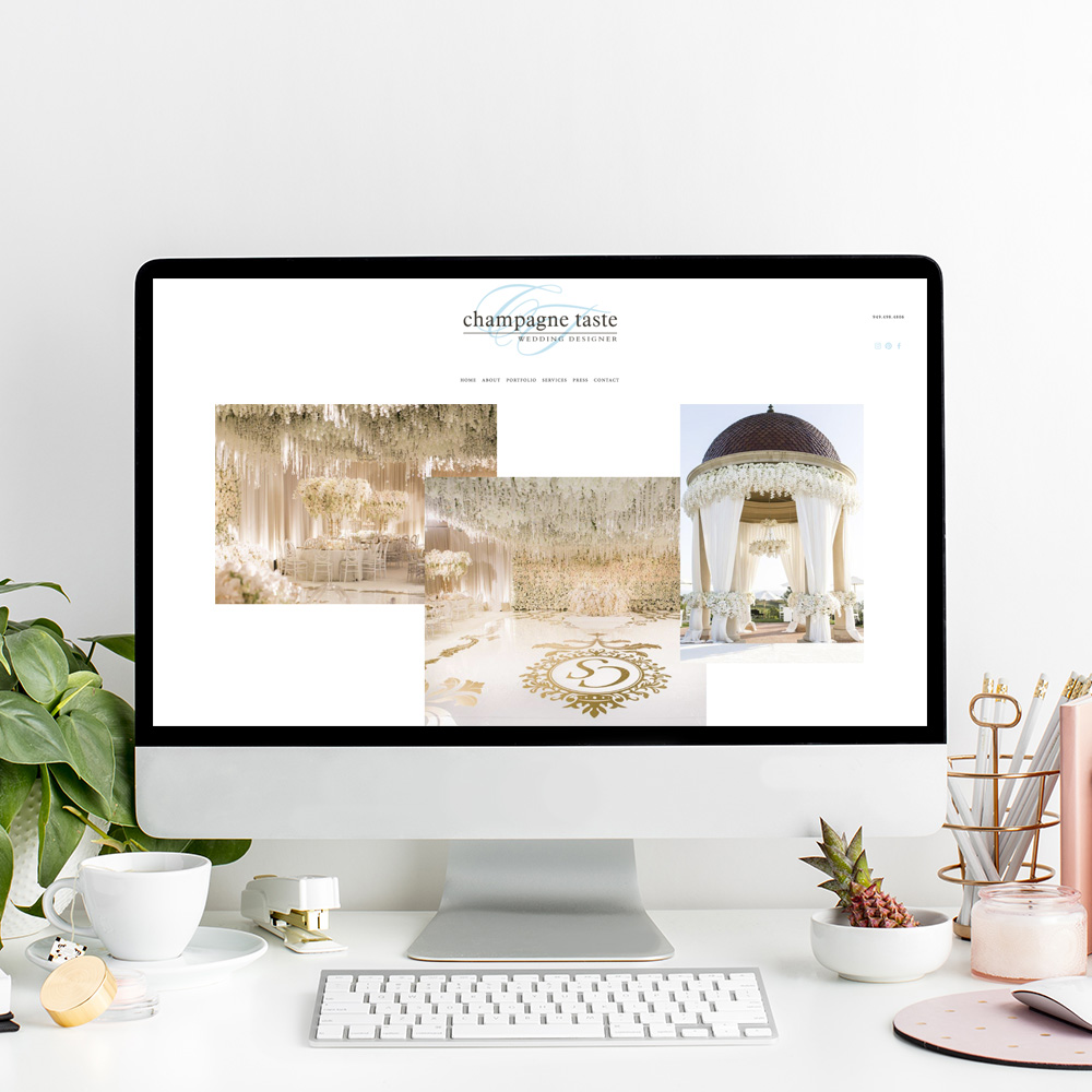 Website Designer For Champagne Taste | Luxury Wedding Planner in Southern California | The Editor's Touch