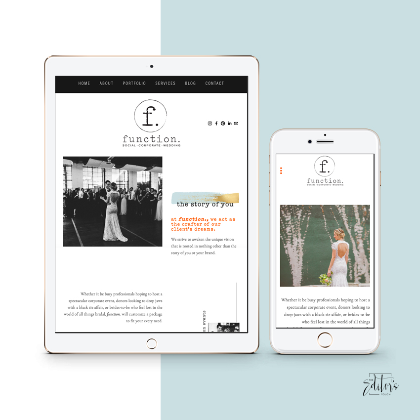Website Design by The Editor's Touch