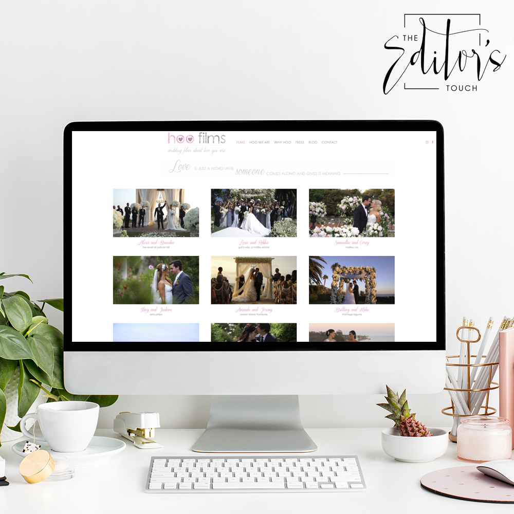 Website Design For Hoo Films | The Editor's Touch