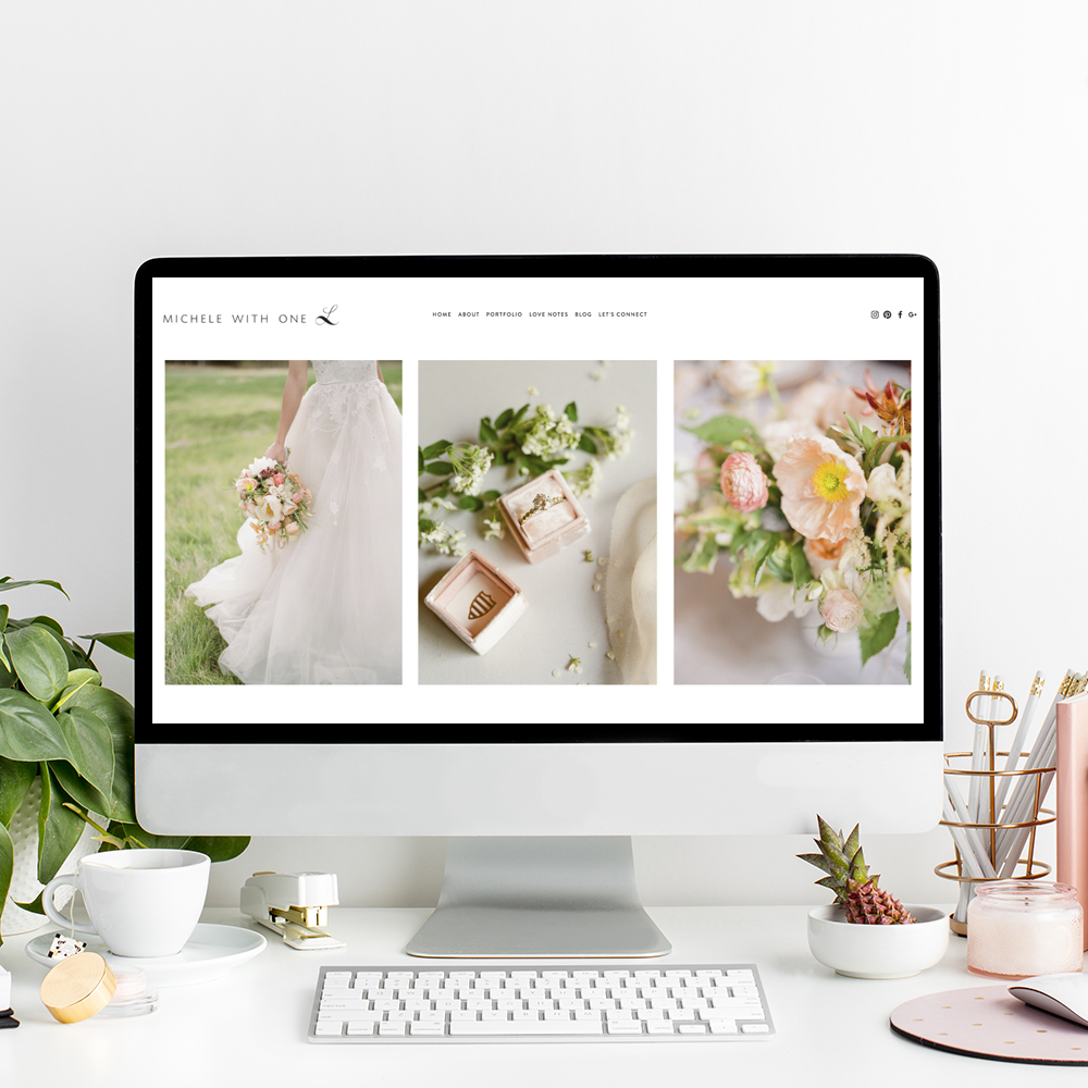 Website Designer for Michele With One L Photography